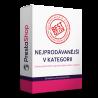 Modul pre PrestaShop 1.6, 1.7 Modul zobrazuje v kategóriách najpredávanejšie produkty z danej sekcie. Umožnite zákazníkom lepšiu orientáciu a pomoc s výberom.