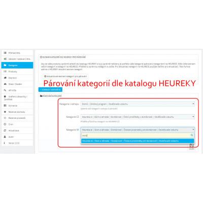 Párovanie kategórií podľa katalógu Heuréky v module