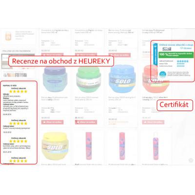 Recenzia obchodu a certifikát Heureka