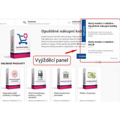 Panel / widget na webových stránkach