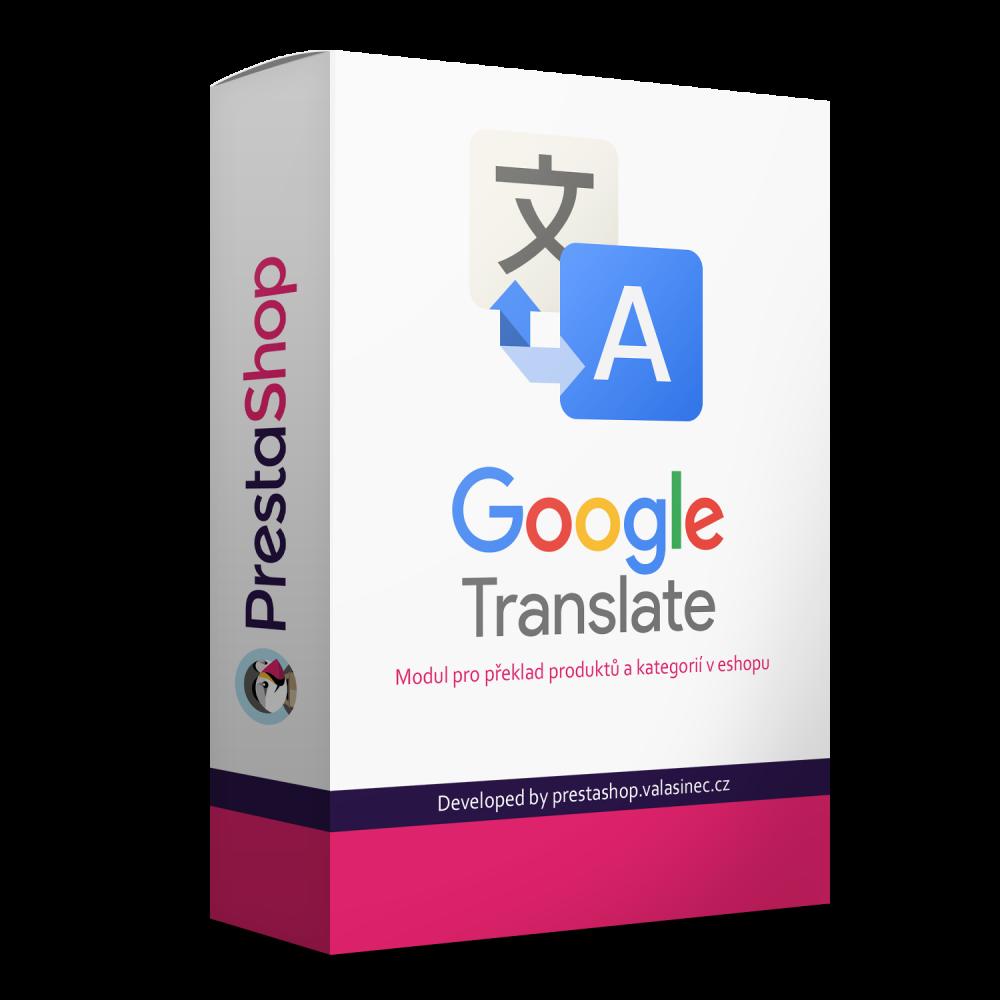 Google translator - preklad produktov a kategórií