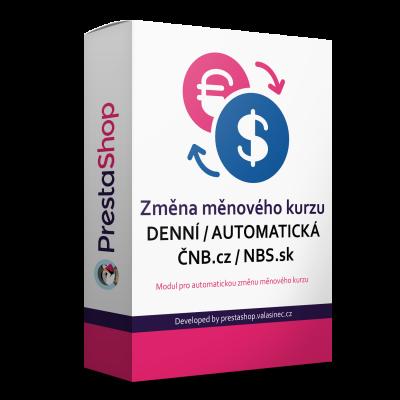 Automatická zmena menového kurzu NBS.sk / ČNB.cz - Modul...