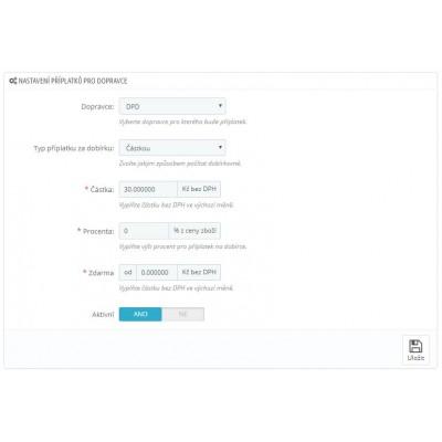 Editácia príplatkov v module