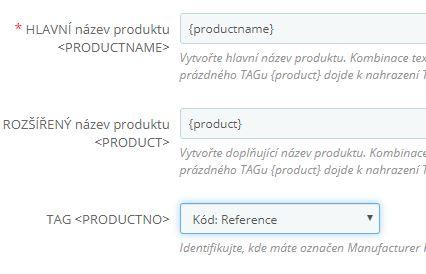 Tvorba názvu produktu pre Heureku