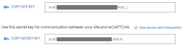 Kľúče API pre službu reCAPTCHA